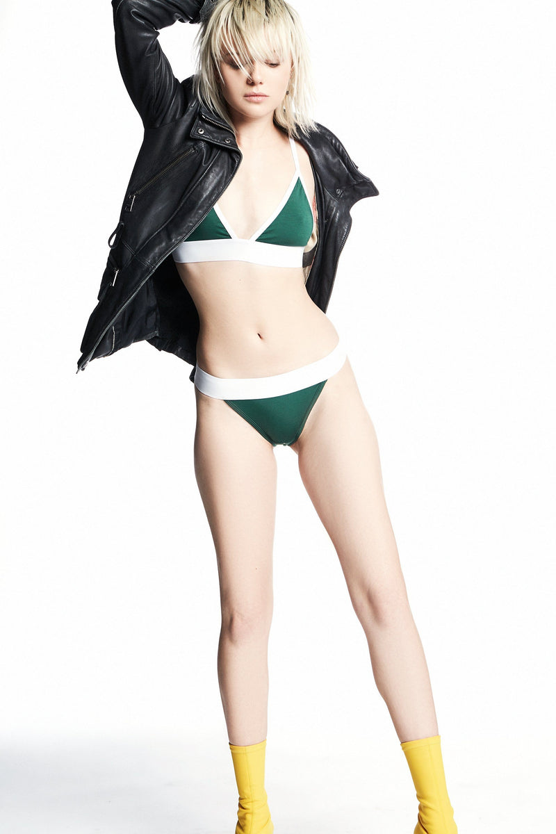 97 Bikini 2 / British Racing Green / Supima Jersey