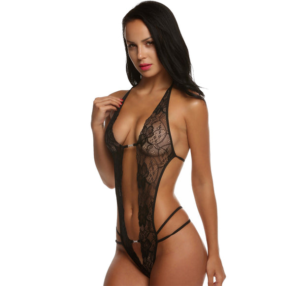 Sexy Lace Deep V Neck Teddy Lingerie