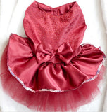 Clothes For Dogs Dog Puppy Wedding Party Lace Dress Clothes Bow Tutu Princess Dress Pet Apparel