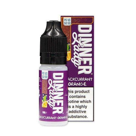 Blackcurrant Orange 50/50 E-Liquid by Dinner Lady 10ml