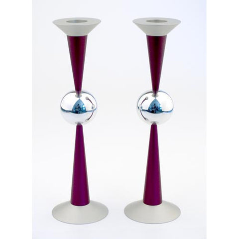 THE BALL CANDLE HOLDERS - LARGE - Agayof Judaica