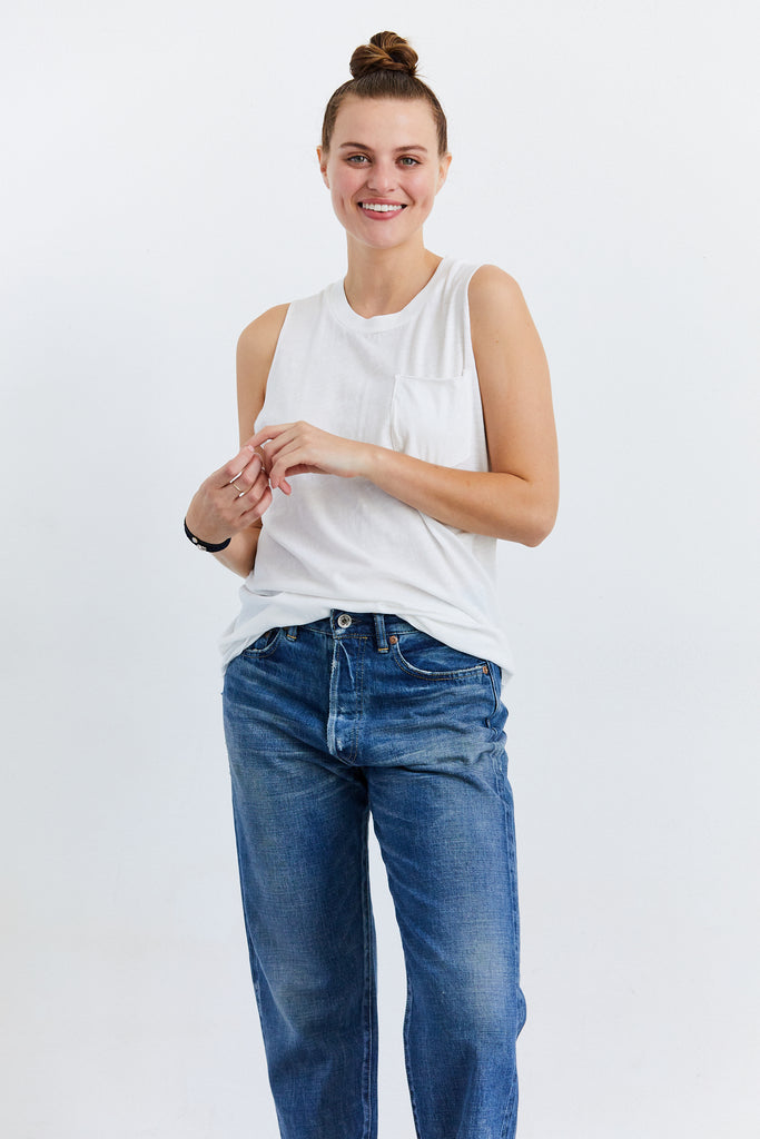 Kira Sleeveless Pocket Tee