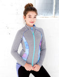 GIRLS CUT AND SEW ATHLETIC JACKET