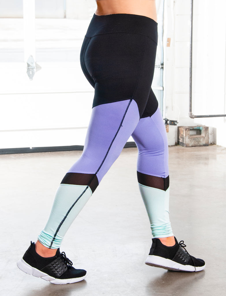 GIRLS CUT AND SEW LEGGING WITH MESH