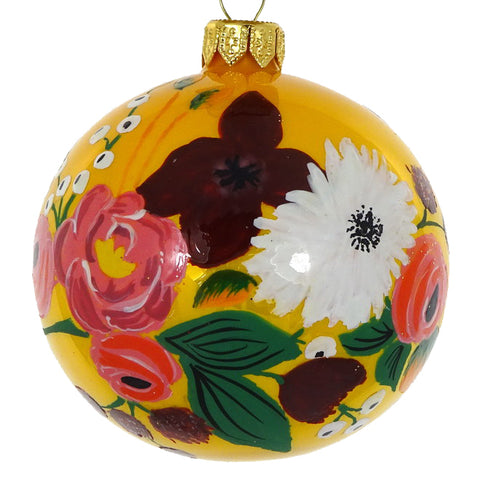 Floral bauble (yellow)