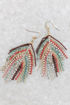 Bead + Crystal Fring Earring