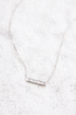 Silver Crystal Bezel Bar Necklace