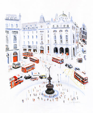 Buses in Piccadilly Circus // Dominique Corbasson