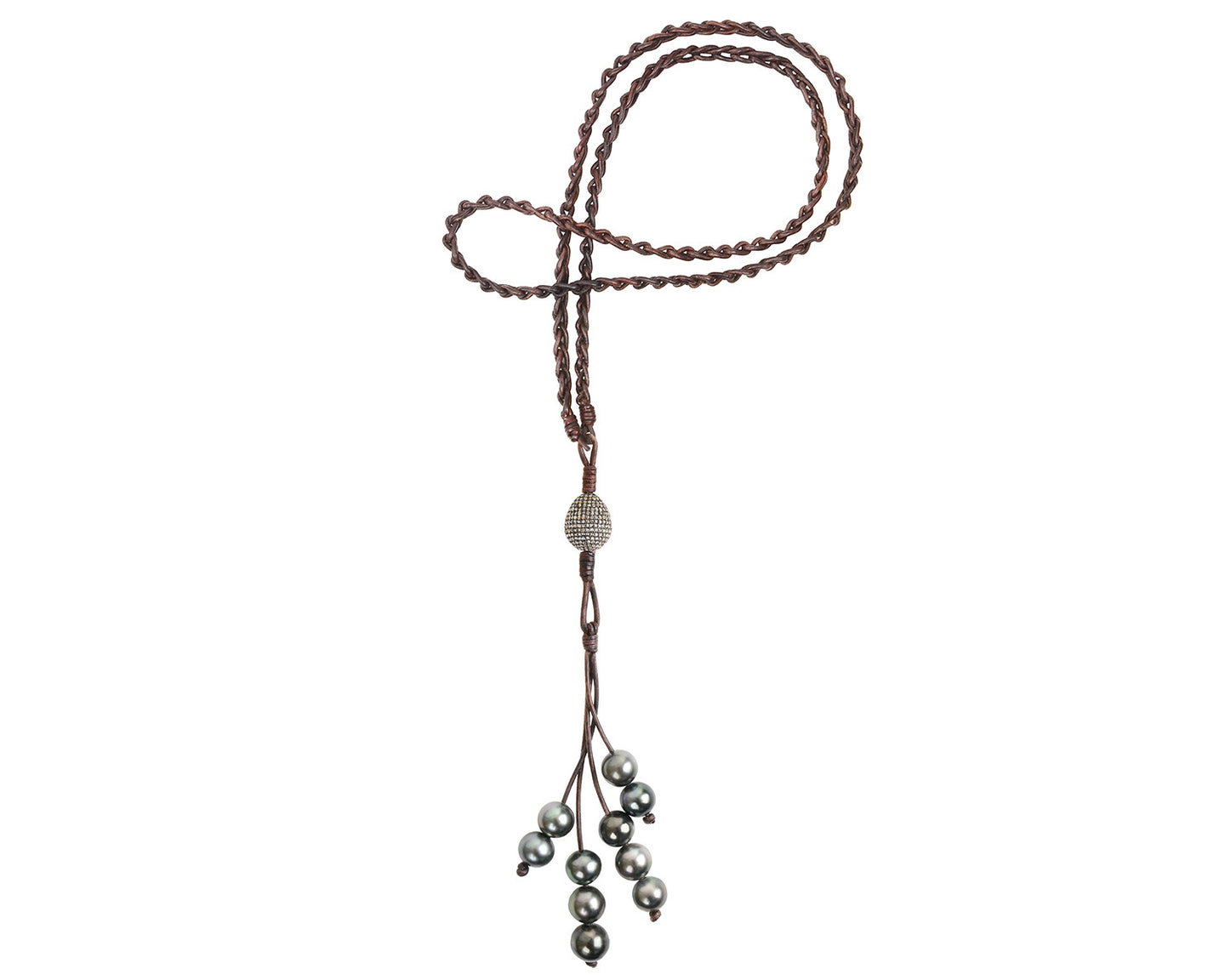 Diamond Eternity Necklace, Tahitian
