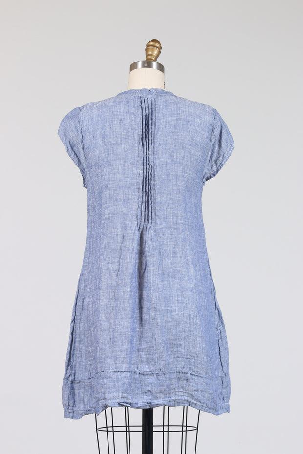 CP Shades Regina Cap Sleeves, Tunic (Chambray Linen), Multiple Colors