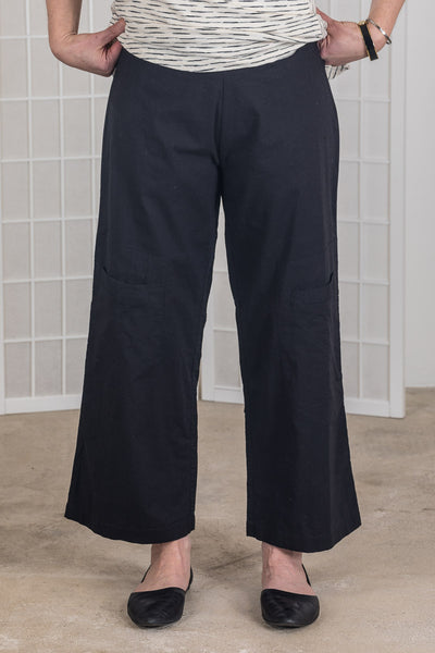 Tulip Big Pocket Pant, Black/White