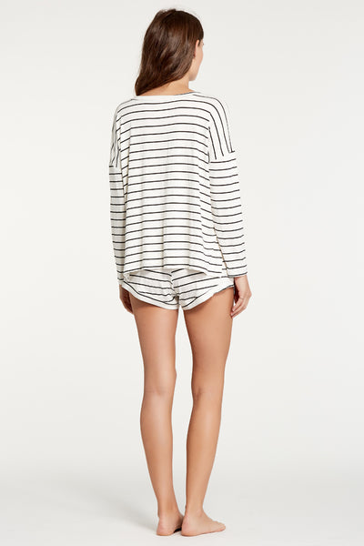 Courtney Top - Ivory/Black Stripe