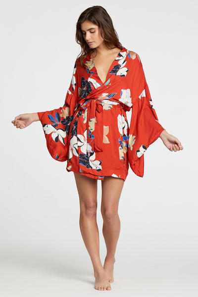 Tokyo Robe - Red Floral