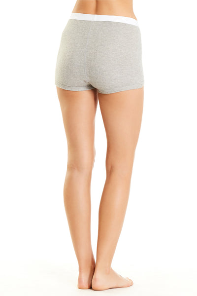Peony Short - Heather Grey Rib
