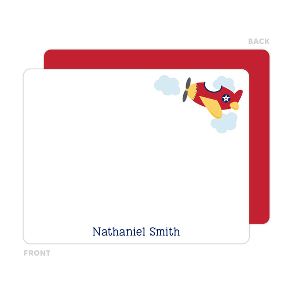 Airplane Note Cards - Thank You Cards