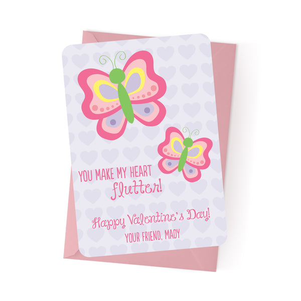 Butterfly Personalized Valentine's Day Cards