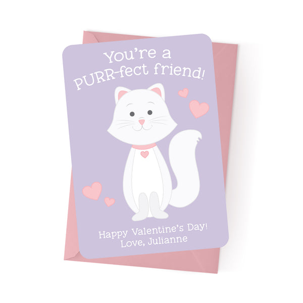 Cat Personalized Valentine's Day Cards
