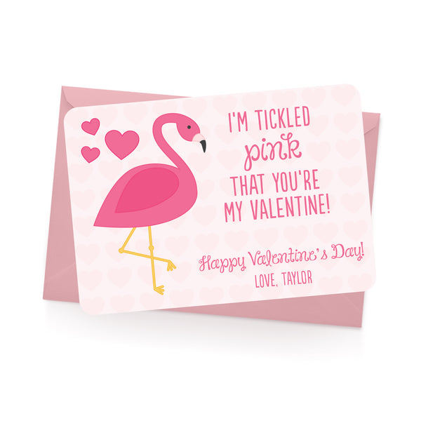 Flamingo Personalized Valentine's Day Cards