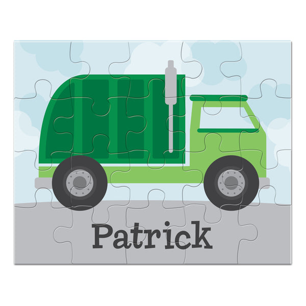 Garbage Truck Personalized Puzzle