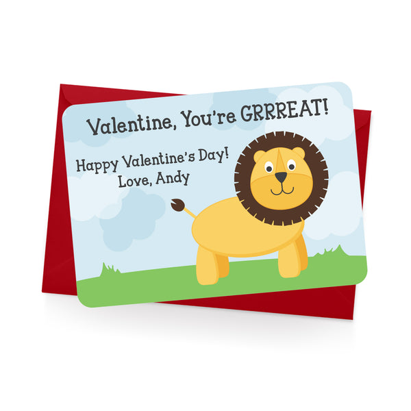 Lion Personalized Valentine's Day Cards
