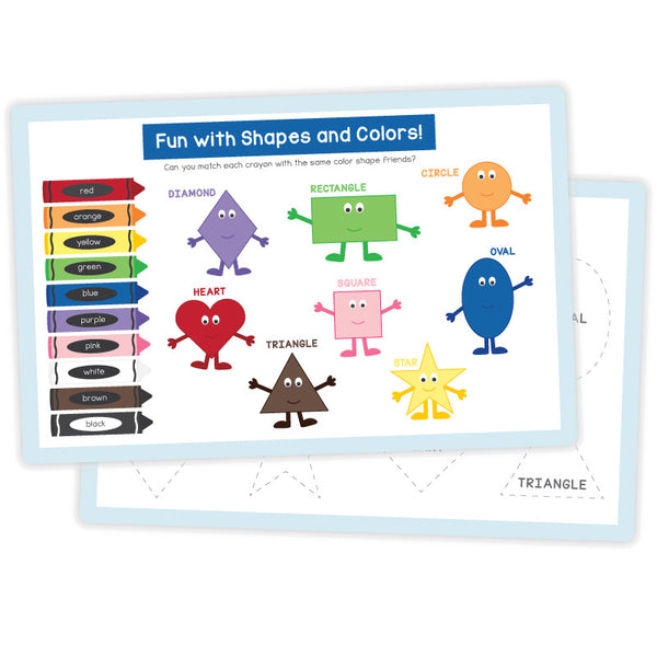 Activity Placemat – Colors and Shapes