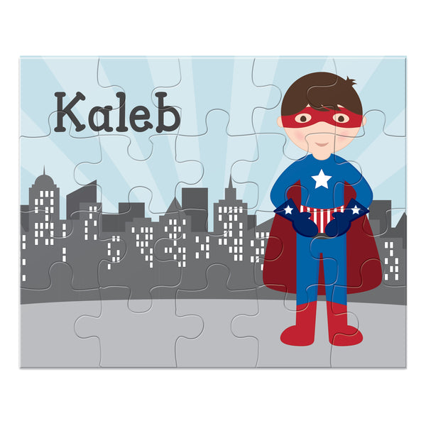 Superhero Boy Personalized Puzzle