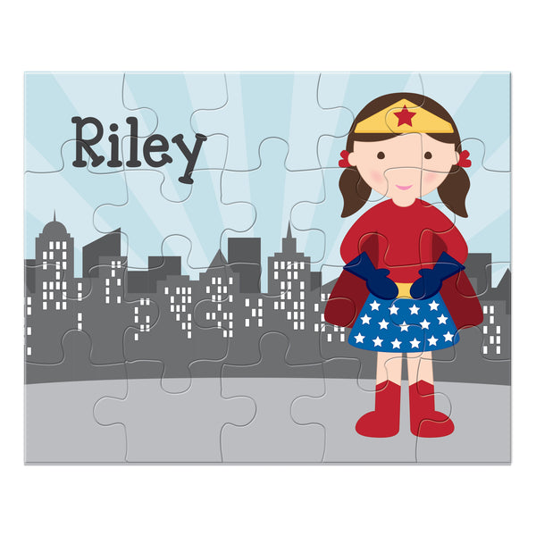Superhero Girl Personalized Puzzle