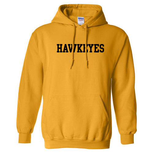 University of Iowa Basic Block Hawkeyes Hoodie - Gold
