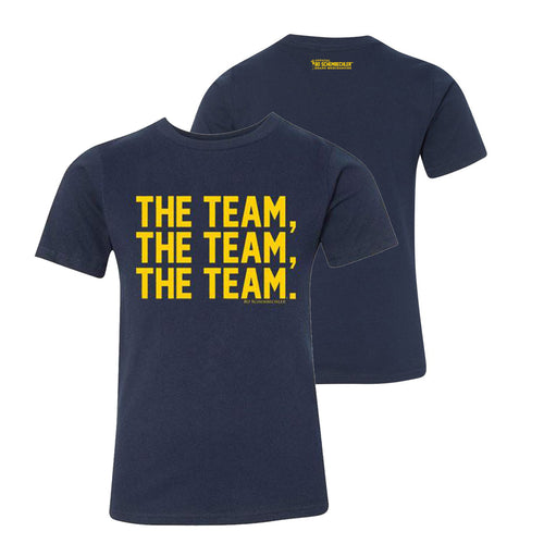 Bo Schembechler The Team The Team The Team Youth Premium Short Sleeve Tee - Midnight Navy