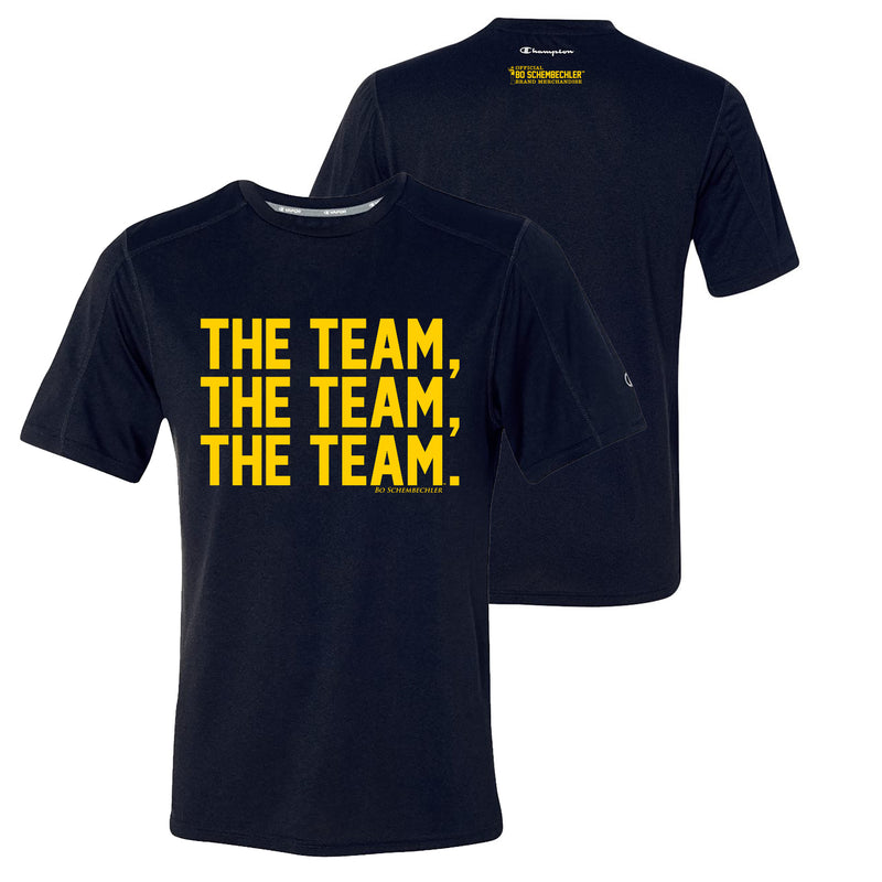 Bo Schembechler The Team The Team The Team Champion Sport Shirt - Navy Heather