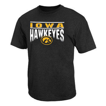 University of Iowa Hawkeyes Frontline Colosseum Short Sleeve T Shirt - Black