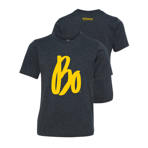 Bo Schembechler Signature Next Level Youth T-Shirt - Vintage Navy