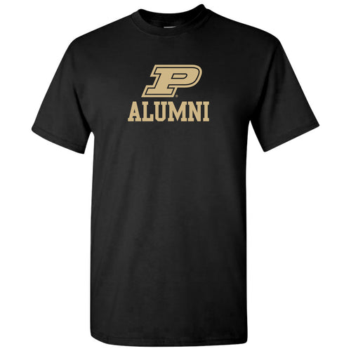 Primary Alumni Purdue Boilermakers Basic Cotton Short Sleeve T Shirt - Black