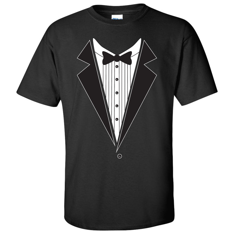 Tuxedo Shirt - Funny Party T-Shirt - Black