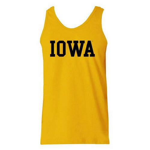 University of Iowa Hawkeyes Basic Block Tank Top - Gold