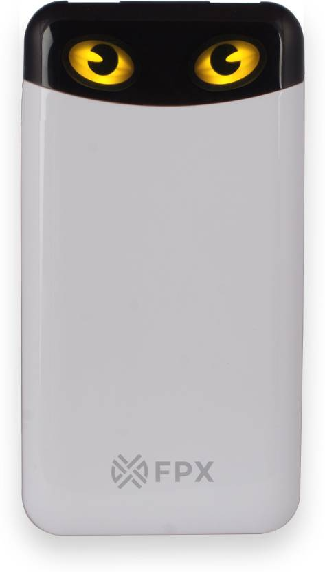FoxProx 10000 mAh Power Bank (FPX13, 10000 mAh Cateye White)  (White, Lithium Polymer)