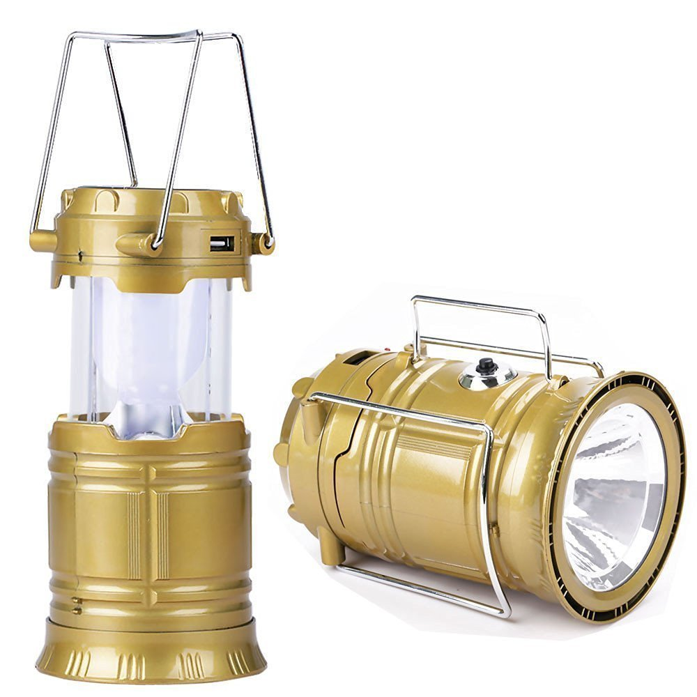 Rechargeable Solar Camping Lantern Portable Folding Flashlights Solar Powered Lamp For Outdoor Hiking Tent Camping Light - diabazaar.com