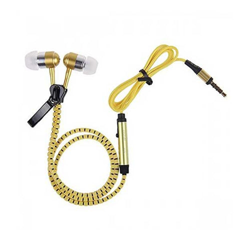 Zipper earphone with ear bud in-ear high bass ( Colour May Vary) - diabazaar.com