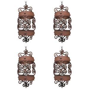 Set of Four 1920 Iron Lantern