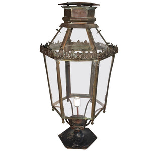 large outdoor 1920 brass post lantern