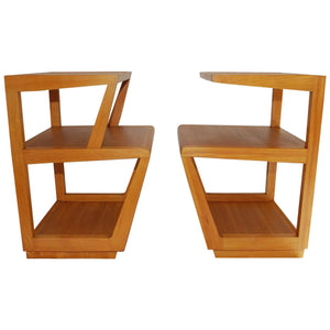 Pair of His and Hers Step side Tables by Edward Wormley