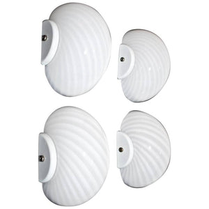 Set of Four 1970's Murano sconces