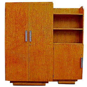 Small French Art Deco armoire/bookcase