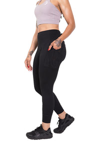 B Logo Ribbed and Cuffed Leggings - Plus