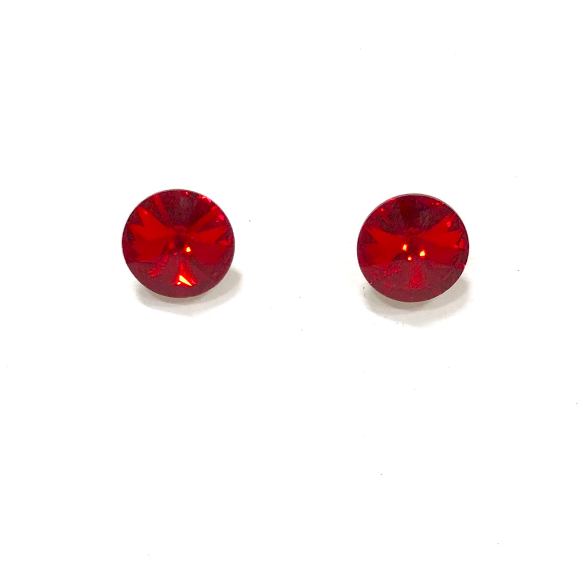 Irresistible Iridescent Stud Earring in Red