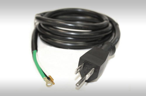 120V Male Power Cord w/Bare Wire End - 300V - 3' - 14/3