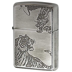 Zippo Lighter Japanese Dragon vs Tiger Both Side Design SV