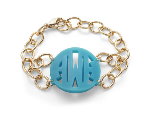 Acrylic Block Monogram Bracelet by Moon and Lola Apparel & Accessories > Jewelry > Bracelets - 1