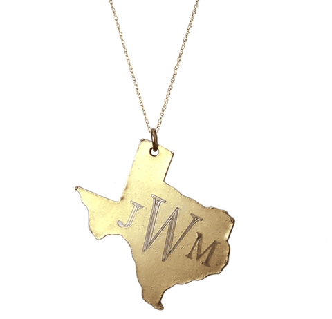Large Monogram Texas Necklace Apparel & Accessories > Jewelry > Necklaces - 1