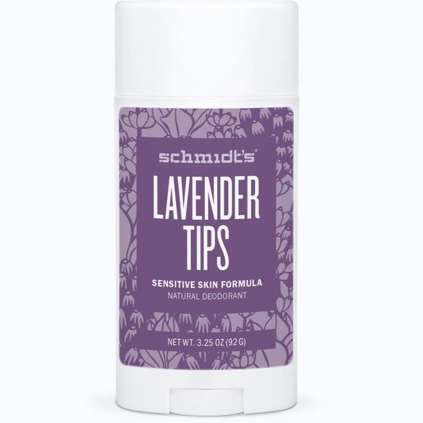 Schmidt's Natural Deodorant Stick for Sensitive Skin - Lavender Tips